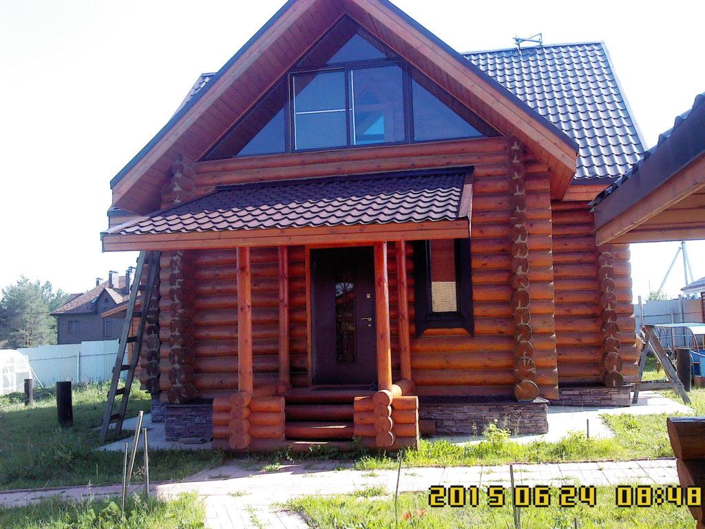 Дом из оцилиндрованного бруса во Владимирской области
