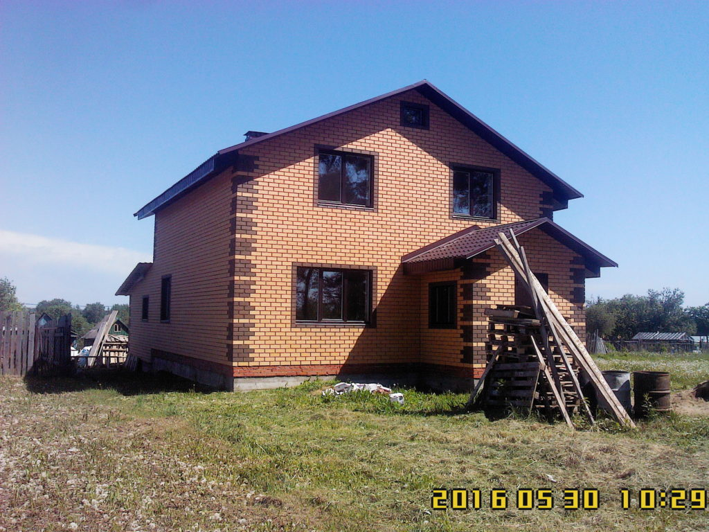 Дом из кирпича, Сновицы, г. Владимир